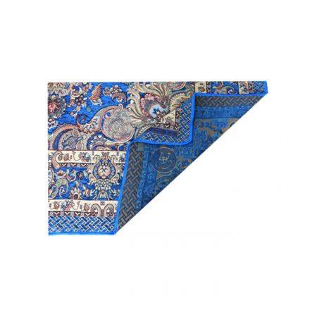 روفرشی مخمل شاه عباسی حریران آبی