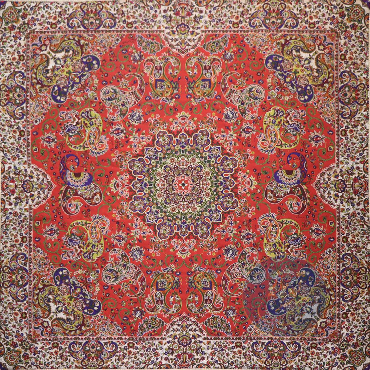 ترمه رومیزی هشت بهشت قرمز